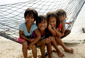 Kids at General Luna